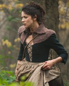 """Caitriona Balfe as Claire Beauchamp Randall from """"The Gathering"""" in Outlander on Starz via http://www.starz.com/originals/outlander"""