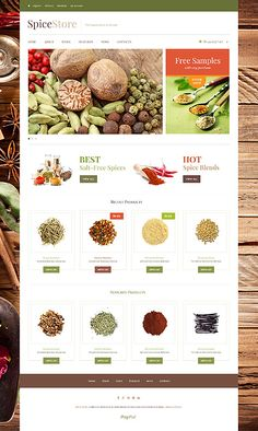 Website Design Template 48531: cook pepper salt powder blend cinnamon dried herbs