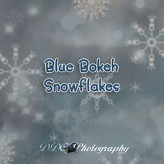 "Specialty Backdrop - Blue Bokeh Snowflakes - Great for winter portraits. Would also be great for a ""Frozen"" themed session!"