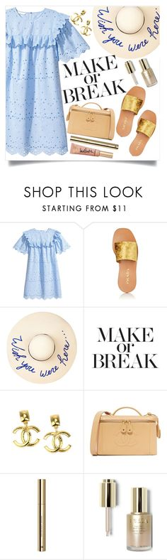 """""""It's okay to play safe ..."""" by marabellax ❤ liked on Polyvore featuring Prada, Eugenia Kim, Chanel, H&M, Stila and Too Faced Cosmetics"""
