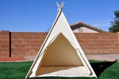 Natural Canvas Plain Kids Teepee Kids Play Tent by Teepee4U
