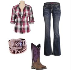 Would wear this all the time if I could! Hot Country Girls, Country Girls Outfits, Cowgirl Outfits, Cowgirl Style, Fall Outfits, Fashion Outfits, Country Fashion, School Outfits, Outfit Ideas