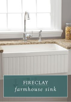 A fireclay farmhouse sink is a must-have when renovating your kitchen. This sink style is perfect for a cottage-chic home or classic family kitchen.