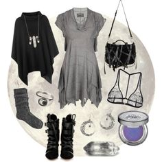 Dark Mori Witch - Moonlight by bloodmoonsuccubus on Polyvore featuring AllSaints, River Island, I.D. SARRIERI, Isabel Marant, Suzannah Wainhouse, Zoë Chicco, Urban Decay and Alexander Wang