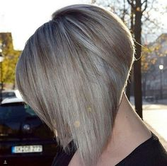 Extreme Angled Inverted Bob with Highlights