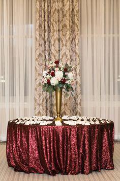 L Photographie . St. Louis Union Station Wedding, Grand Hall Wedding at St. Louis Union Station Hotel, Historic Wedding Venues St. Louis, Unique Wedding Venue St. Louis, Pretty Place Card Table, Burgundy Wedding Ideas