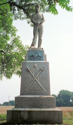16th Pennsylvania Cavalry monument at Gettysburg