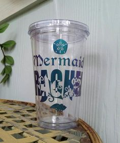 Mermaid your name tumbler personalizable underwater life