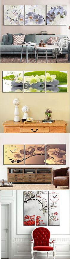 Looking for wall clocks? Check out these adorable 3 -piece canvas wall clocks! Just click on the picture.