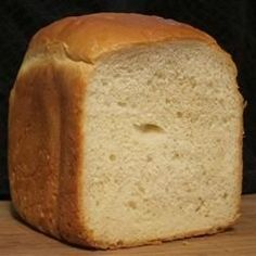 Another white yeast bread from the bread machine, this one features both all-purpose and bread machine flours along with egg and powdered milk.