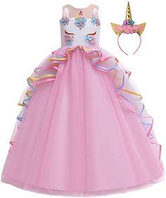 Unicorn Dress Girls, Girl Unicorn Costume, Unicorn Clothes, Unicorn Outfit, Fancy Dress Up, The Dress, Birthday Dresses, Wedding Party Dresses, Dresses Kids Girl