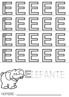 A continuación, os presento cómo trabajo otra vocal, en este caso la E con mi particular método. Siempre comienzo presentando la letra en c... Handwriting, Preschool, Reading, Words, Aba, Google, Educational Activities, Letter E Activities, Letter I Activities