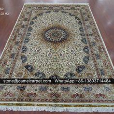 Qum silk carpet,handmade,6x9ft