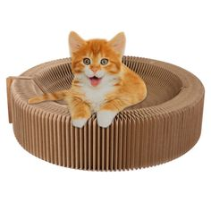 Efanr Corrugated Cats Scratching Pad Bowl Shaped Foldable Cat Scratcher Board Toys Pet Furniture for Indoor Small and Medium Cats ** Read more details by clicking on the image. #CatScratchersandFurniture
