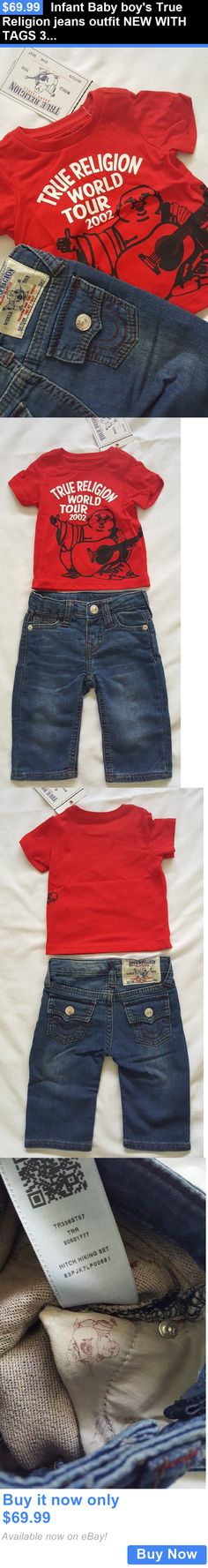 Baby Boys Clothing And Accessories: Infant Baby Boys True Religion Jeans Outfit New With Tags 3 6 9 12 18 24 Months BUY IT NOW ONLY: $69.99