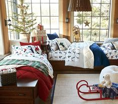 Discover boys room ideas and inspiration at Pottery Barn Kids. Shop our favorite boys bedrooms for furniture, bedding, and more. Bedroom Themes, Bedroom Ideas, Nursery Ideas, Girls Bedroom, Bedroom Decor, Christmas Bedroom, Baby Furniture, Pottery Barn Kids, Sheet Sets