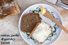 Onion, garlic and parsley bread