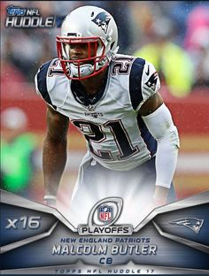 0569b1d92ef Topps Huddle 2017 Playoffs 16X Boost Malcolm Butler Digital Card