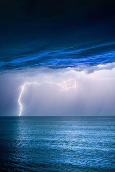 Velvet Skies. Seen from Jindalee Beach, Western Australia as thunderstorms crossed the coast, by Jordan Cantelo.