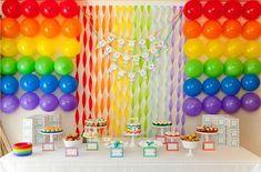 festa infantil decorada com balões