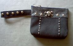 Skull Studded Wristlet - PURSES, BAGS, WALLETS - Knitting, sewing, crochet, tutorials, children crafts, papercraft, jewlery, needlework, swaps, cooking and so much more on Craftster.org