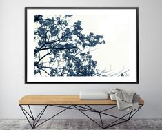 Extra large botanical print large Canvas art 60x40 oak tree