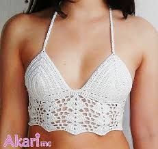 Image result for crochet bra top pattern free