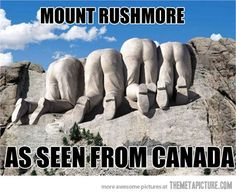 Mount Rushmore - as seen from Canada