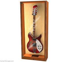 Guitar Storage, Guitar Display, Wall Mounted Display Case, Showcase Cabinet, Guitar Stand, Thing 1, Design Department, Door Opener, Cool Guitar