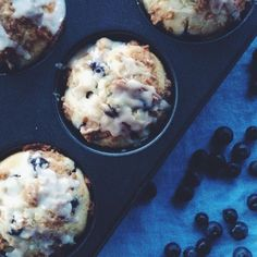 Brown Sugar Blueberry Muffins Recipe