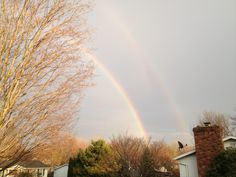 Double rainbow as seen from Harborcreek PA