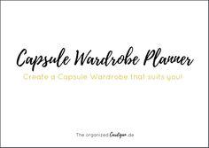 Capsule Wardrobe Planner by theorganizedcardigan.de
