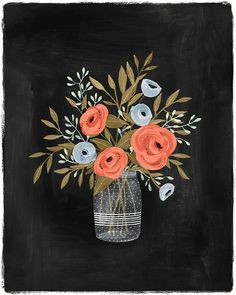 Ranunculus 8 x 10 art print by KelliMurrayArt on Etsy, $22.00