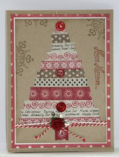Christmas card with washi tape.