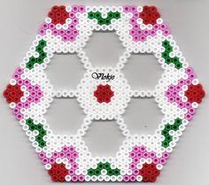 Sechseck Bügelperlen/  Hexa perler beads