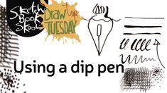 Draw Tip Tuesday: Using a dip pen https://youtu.be/XQ9HOTsraIE