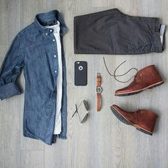 Capsule Wardrobe Outfit. #mens #fashion