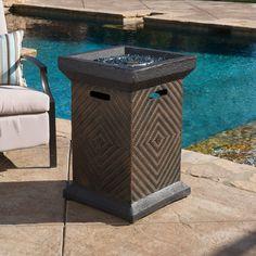 "Centinela Outdoor 19"" Liquid Propane Fire Pit Column"