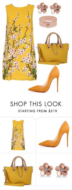 """style theory by Helia"" by heliaamado on Polyvore featuring moda, Dolce&Gabbana, Christian Louboutin, Chloé, Allurez e Mulberry"