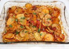 Pečená cukina so zemiakmi a zeleninou, Zdravé recepty, Delená strava - recepty, recept | Naničmama.sk Bon Appetit, Shrimp, Meat, Food, Essen, Meals, Yemek, Eten