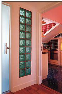 parede americana com alguns blocos de vidro - Pesquisa Google