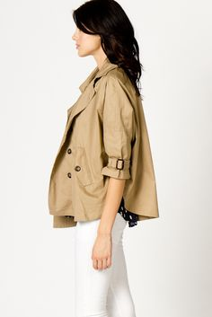 cropped trench- perfect for rainy days for me, since i loathe norma-length trenches on myself.
