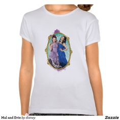 Mal and Evie Disney Descendants Shirt.  Featured design available on many other shirt styles.  Take a look!
