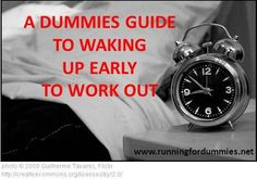 Good tips for making sure that morning workout happens!