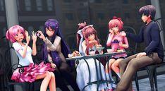 Pikutober Day 3 - Friendship by StarIsADork on DeviantArt Oki Doki, Dc Anime, Literature Club, Indie Games, Jojo's Bizarre Adventure, Yandere, Manga, Marvel Dc, Yuri