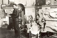 Carl Larsson (1853-1919) The Family in the Studio.