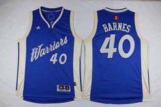 Golden State Warriors #40 Harrison Barnes blue 2015-2016 Christmas Day Jersey $22.0