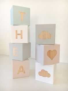 Personalised Name Building Blocks