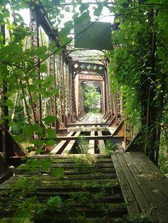 Abandoned bridge. New Castle, PA
