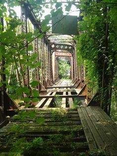 Abandoned bridge. New Castle, PA
